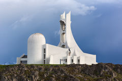 Contemporary church on Iceland. Stock Photography