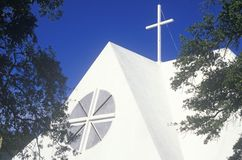 A contemporary church near Biloxi Mississippi Royalty Free Stock Images