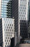 Contemporary cityscape, curtain walls facade Stock Photos