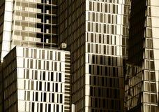 Contemporary cityscape, high contrast sepia hue Stock Photography