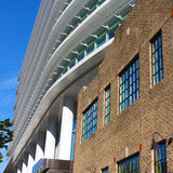 Contemporary and classic architecture coexists in urban development. Stock Photography