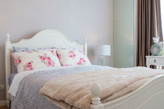Contemporary classic bedroom Stock Images
