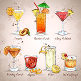 Contemporary Classics Cocktail Set. Excellent vector illustration, EPS 10 Stock Photography