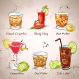 Contemporary Classics Coctail Set. Excellent vector illustration, EPS 10 Royalty Free Stock Photo