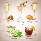 Contemporary Classics Coctail Set. Excellent vector illustration, EPS 10 Stock Images