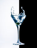 Contemporary cocktail with splashes Stock Photo