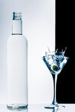Contemporary cocktail with splashes Stock Images