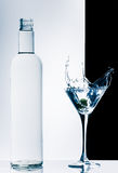 Contemporary cocktail with splashes Royalty Free Stock Photos