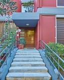 Contemporary colorful house entrance Stock Photos