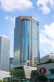 Contemporary commercial buildings in Hong Kong. At daytime royalty free stock images