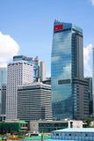 Contemporary commercial buildings in Hong Kong. At daytime stock photo
