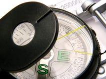 Contemporary Compass. Closeup of contemporary compass Stock Photos
