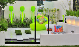 Contemporary concept garden stock image