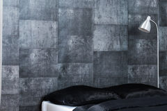 Contemporary concrete wallpaper design Stock Photography