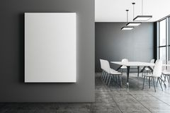 Contemporary conference room with empty banner Royalty Free Stock Photos