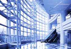 Contemporary Corporate Building Interior (Duotone) Royalty Free Stock Image