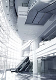 Contemporary Corporate Building Interior (Duotone) Royalty Free Stock Photos