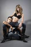 Contemporary couple Royalty Free Stock Photos