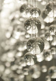 Contemporary Crystal Chandelier Stock Photo