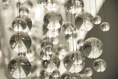 Contemporary Crystal Chandelier Stock Photography