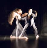 Contemporary dance. Picture taken on stage Stock Photos