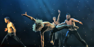 Contemporary Dance Theatre at the scene Stock Images