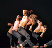 Contemporary Dance Theatre at the scene Royalty Free Stock Photos