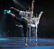 Contemporary Dance Theatre at the scene Royalty Free Stock Image