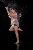 Contemporary dancer water stock photos