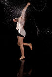 Contemporary dancer water royalty free stock image