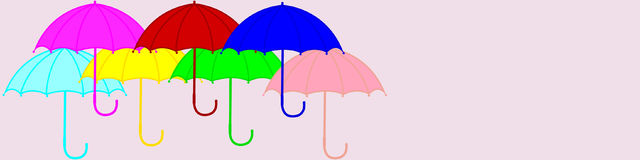 Contemporary design. Background, banner, poster, flyer. Contemporary design. Background, banner, poster, flyer of multi-colored umbrellas. Vector illustration Royalty Free Stock Image