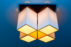 Contemporary designed chandelier royalty free stock photos