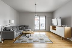 Living room with terrace royalty free stock photography