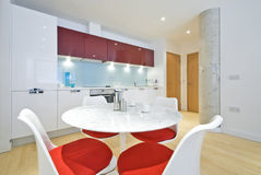Contemporary designer kitchen Stock Images