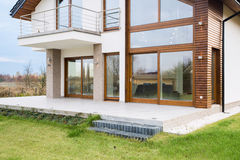 Contemporary detached house Stock Photo