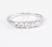 Contemporary diamond ring. Stock Image