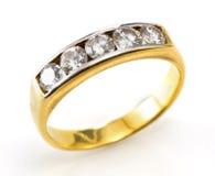 A contemporary diamond ring Stock Image