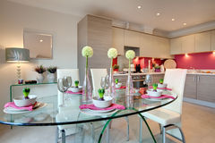 Contemporary dining royalty free stock photo