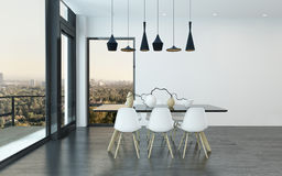 Contemporary dining corner in a living room Royalty Free Stock Images