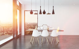 Contemporary dining corner in a living room Stock Image