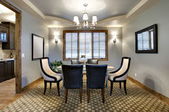 Contemporary Dining Room Royalty Free Stock Photo