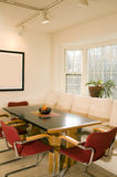 Contemporary dining room bay window Royalty Free Stock Image