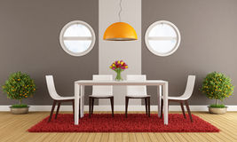 Contemporary dining room Stock Photos