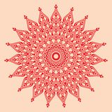 Contemporary doily round lace floral pattern Royalty Free Stock Photo