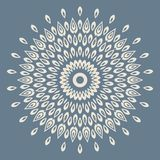 Contemporary doily round lace floral pattern Royalty Free Stock Image