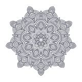 Contemporary doily round lace floral pattern. Card, circle, mandala Stock Photo