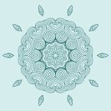 Contemporary doily round lace floral pattern Stock Photo