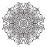 Contemporary doily round lace floral pattern Stock Photos