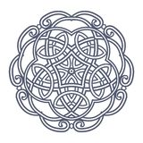 Contemporary doily round lace floral pattern Stock Image