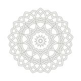 Contemporary doily round lace floral pattern Royalty Free Stock Photos